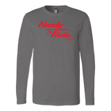 RED READY TO RIDE UNISEX LONG SLEEVE TEE