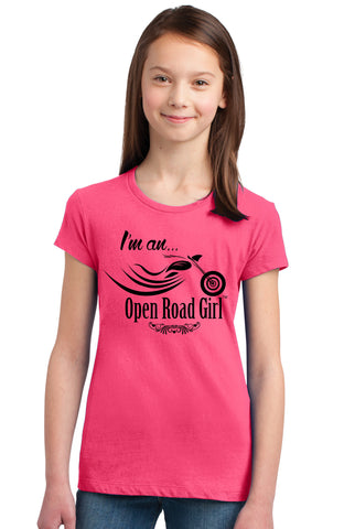 I Am...an Open Road Girl Pink CHILD Tee