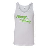 GREEN READY TO RIDE UNISEX WIDE BACK TANK TOP