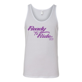 PURPLE READY TO RIDE UNISEX WIDE BACK TANK TOP
