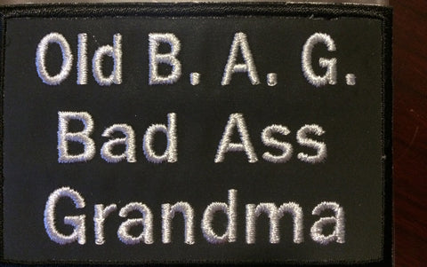 Old B.A.G. (Badass Grandma) Patch, 2 Colors