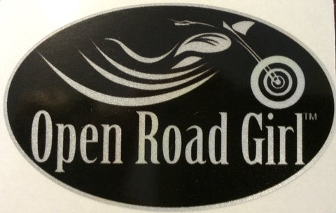 Open Road Girl Reflective Decal Helmet Sticker, 8 Colors