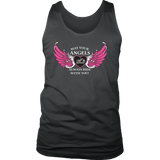 BLACK OR GREY May your Angels Always Ride with You UNISEX Tank Top (2) COLORS