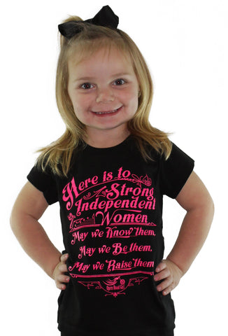 Hot Pink/Purple Strong Women Child Tee