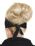 Rhinestone X Design Stretchy Tie-Back Headwrap, 3 Colors