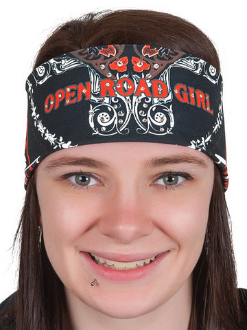 Open Road Girl RHINESTONE Bandana, 7 Colors