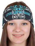 Live Love Ride RHINESTONE Bandana, 7 Colors