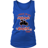 RED A Woman on her Motorcycle is a Beautiful Thing Wide Back Tank Top
