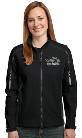 BLACK Open Road Girl Ladies Soft Shell Jacket