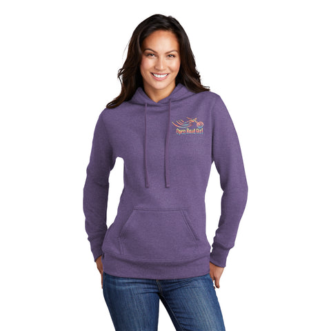 PURPLE Open Road Girl Full PULLOVER Hoodie - CHOOSE YOUR LOGO COLOR!