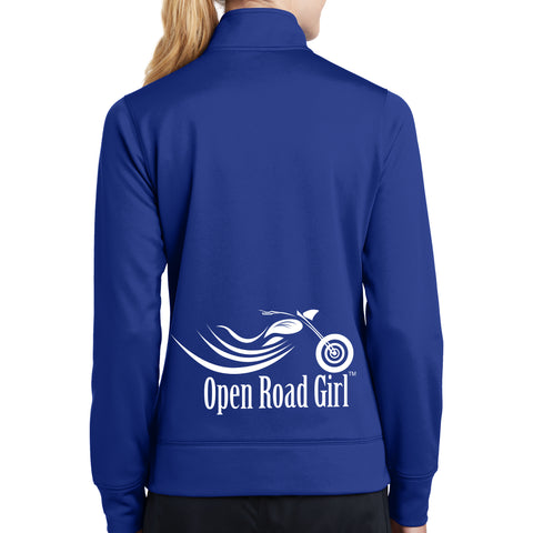 Open Road Girl Sport-Wick Fleece Jacket - LOWER PRINT