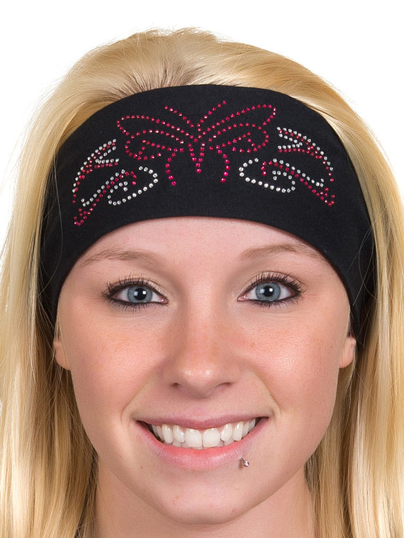 Tribal Butterfly Rhinestone Headwrap, 3 Colors
