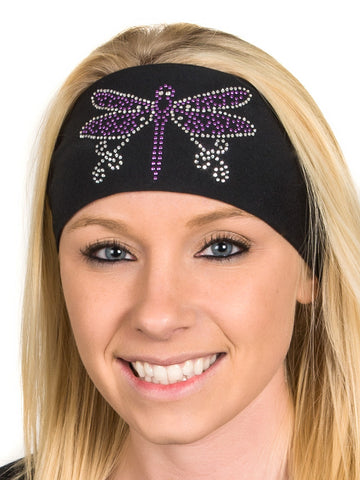 Dragonfly Rhinestone Headwrap, 4 Colors