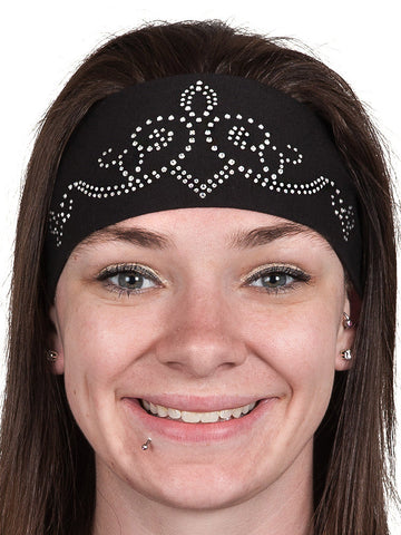 Crown Tiara Rhinestone Headwrap, 3 Colors