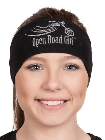 Sparkly GLITTER Open Road Girl Stretchy Tie-Back Headwrap,  9 COLORS