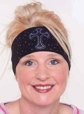 Cross with Scatter Stones Rhinestone Head Wrap