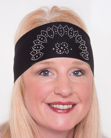 Oval Design Rhinestone Head Wrap