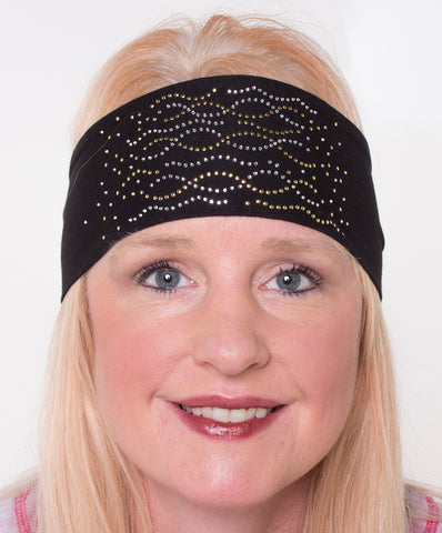 Multi Swirl Rhinestone Head Wrap, 2 COLORS