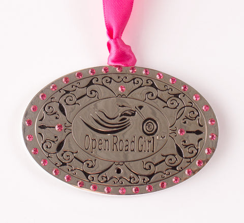 Open Road Girl Metal Ornament, 2 Styles