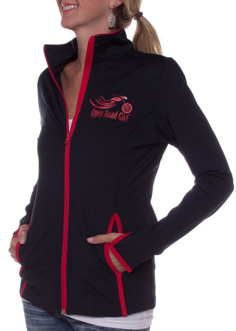 Open Road Girl Full-Zip Jacket with Thumb Holes, 6 Colors