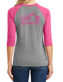 Open Road Girl 3/4 Sleeve Crew Neck Tee, 3 Colors