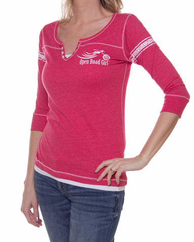 Henley 3/4 Sleeve T-Shirt, 3 Colors