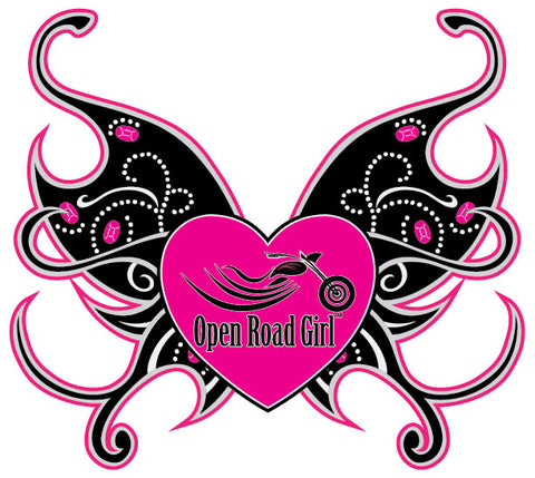 Heart Open Road Girl Window Decal Sticker