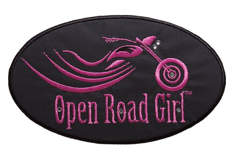 Open Road Girl Oval Embroidered Patch, 10 Colors