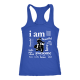 I AM...Inspiration Women's Open Road Girl Racer-Back Tank Top, 8 COLORS