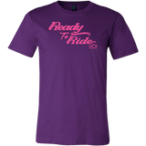 PINK READY TO RIDE MEN'S STYLE CREW NECK TEE