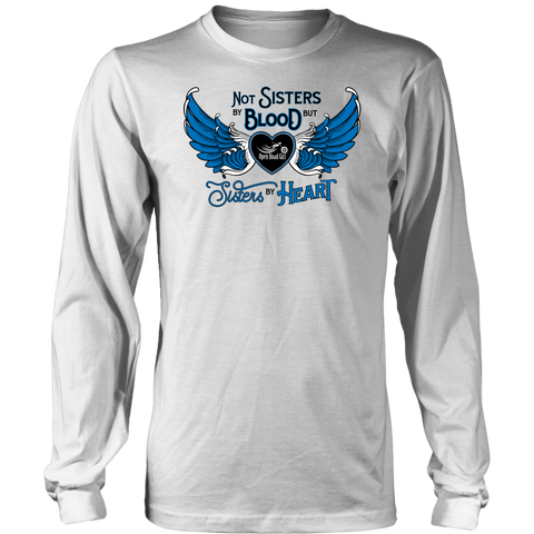 BLUE NOT SISTERS BY BLOOD...OPEN ROAD GIRL LONG SLEEVE TEE