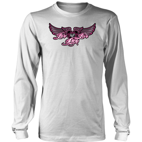 PINK Live Love Ride MEN'S STYLE Long Sleeve Tee