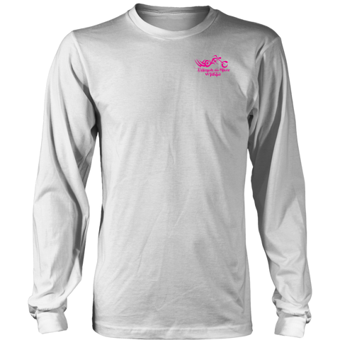 PINK Unleash The Biker Within UNISEX Long Sleeve T-Shirt- Crewneck
