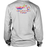 RAINBOW Unleash The Biker Within UNISEX Long Sleeve T-Shirt- Crewneck