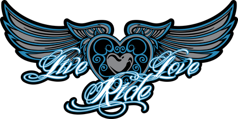 Live/Love/Ride Window Decal Sticker, 3 Colors