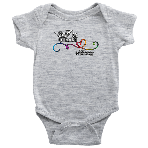 Open Road Girl Baby Onesies, 3 COLORS