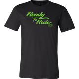 GREEN READY TO RIDE MEN'S STYLE CREW NECK TEE
