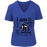 I AM...Inspiration Women's Open Road Girl V-Neck Shirt, 5 COLORS