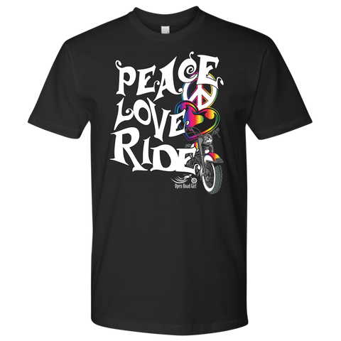 RAINBOW Peace Love Ride UNISEX Tee Shirt
