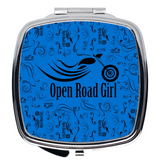 BLUE Open Road Girl Compact Mirrors, 2 Styles
