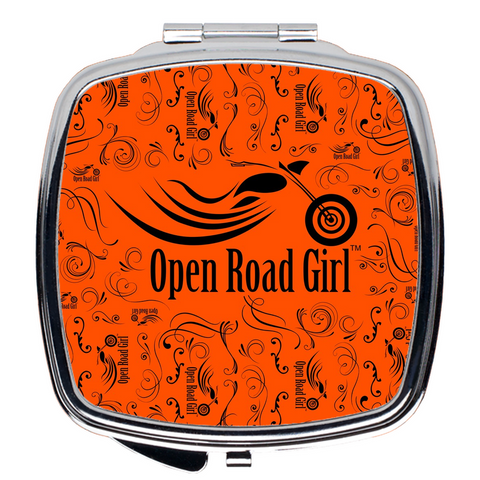 ORANGE Open Road Girl Compact Mirrors, 2 Styles