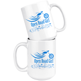 BLUE OPEN ROAD GIRL 15OZ MUG, 2 STYLES