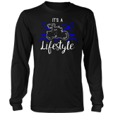 BLUE It's a Lifestyle UNISEX Long Sleeve T-Shirt- Crewneck