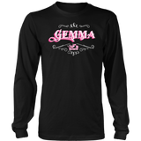 PINK Gemma UNISEX Long Sleeve T-Shirt- Crewneck