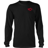 RED Unleash The Biker Within UNISEX Long Sleeve T-Shirt- Crewneck