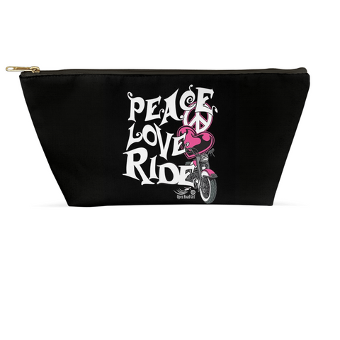 PINK Peace, Love, Ride Large Accessory Bags, 2 Sizes