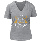 ORANGE  It's a Lifestyle Women's V-Neck T-Shirt-Short Sleeve