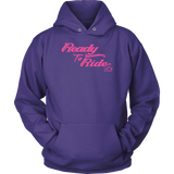 PINK READY TO RIDE UNISEX PULLOVER HOODIE