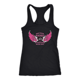 Black/Pink May your Angels Always Ride with You Tank Top (2) STYLES