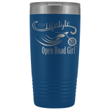 IT'S A LIFESTYLE OPEN ROAD GIRL (20 OUNCES) TRAVEL MUG, 12 COLORS